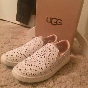UGG laser cut slip on shoes Size 9